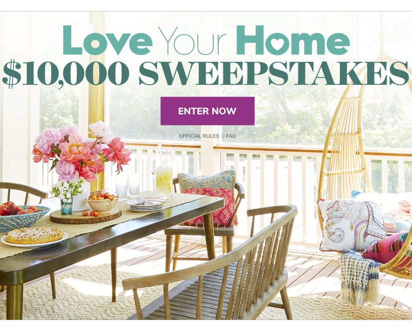 10 000 Love Your Home Sweepstakes