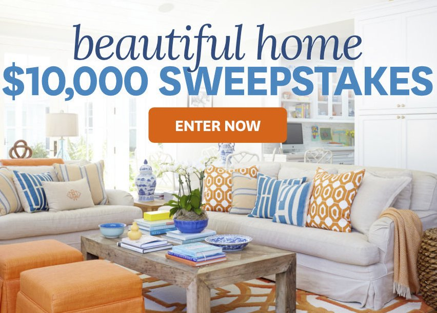 Better Homes And Gardens 10 000 Beautiful Home Sweepstakes