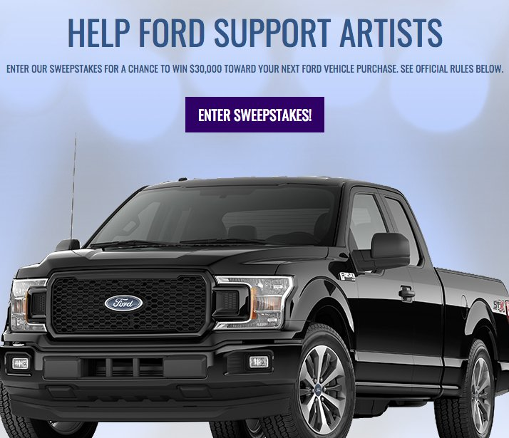 2018 BYG Free Ford Sweepstakes