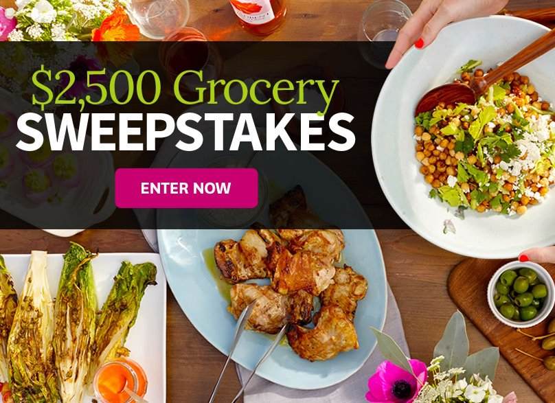 Better Homes And Gardens 2 500 Grocery Sweepstakes