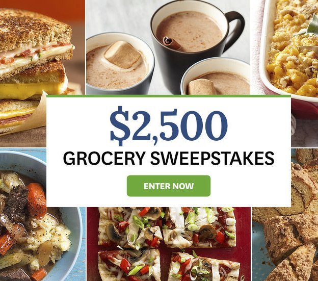 Better homes and garden sweepstakes groceries delivered