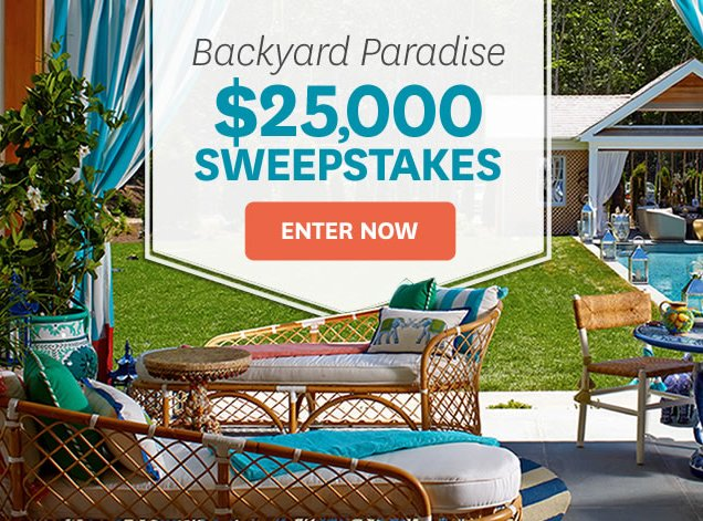 Better Homes And Gardens 25k Backyard Paradise Sweepstakes
