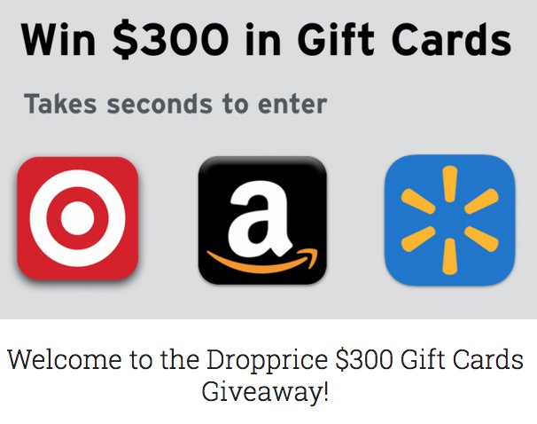 Dropps 300 gift cards giveaway for New home giveaway