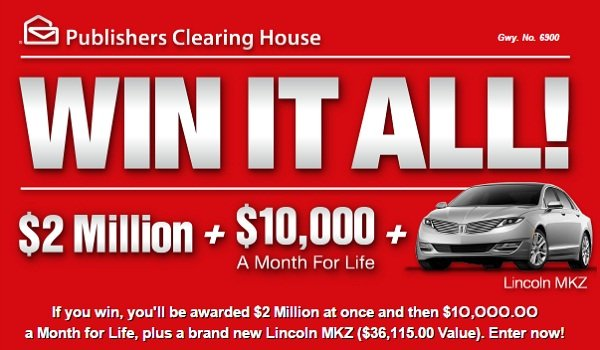 PCH - $3,311,115 Win It ALL PCH Sweepstakes!
