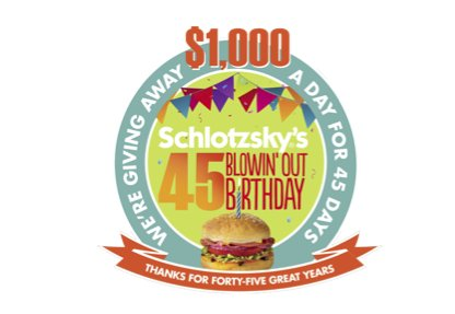 Schlotzsky - 45 Winners! Blowin Out Birthday Sweepstakes