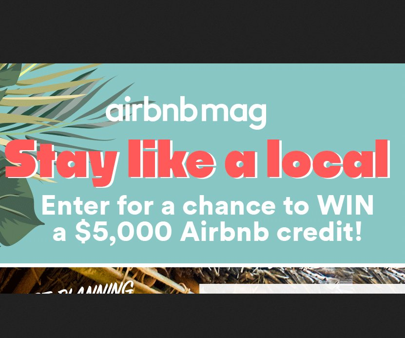 $5000 travel credit sweepstakes