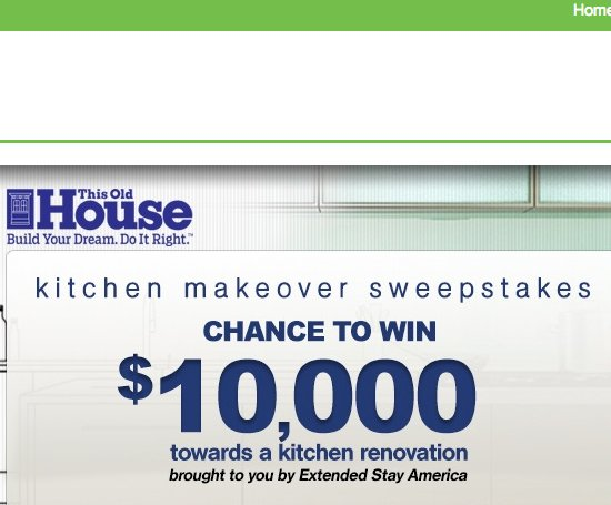 This Old House - America\'s Kitchen Makeover Sweepstakes