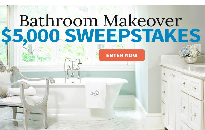 Better homes and gardens bathroom makeover sweepstakes Better home and gardens sweepstakes
