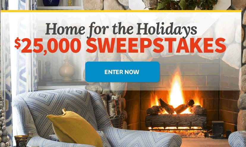 BHG Holidays $25 000 Sweepstakes
