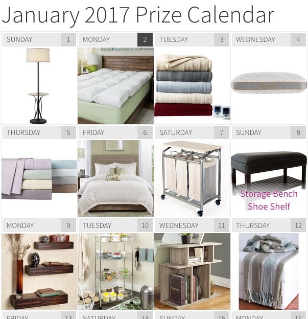 Better Home & Gardens - BHG January Daily Prize Giveaway