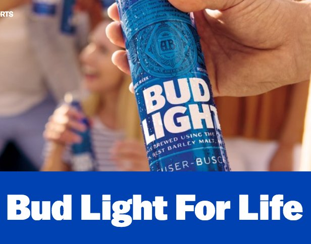 Anheuser-Busch - Bud Light For Life Sweepstakes
