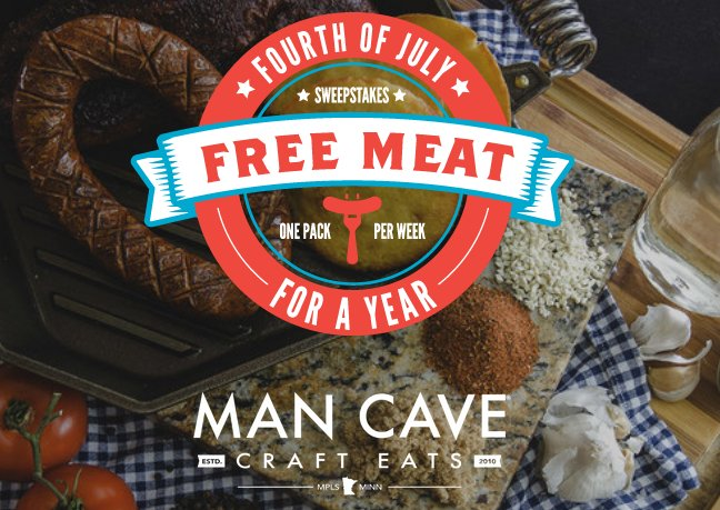 Man Cave Craft Eats Giant : Man cave craft eats chance to win free meat for a year