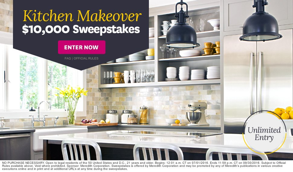 Better homes and gardens sweepstakes and give aways