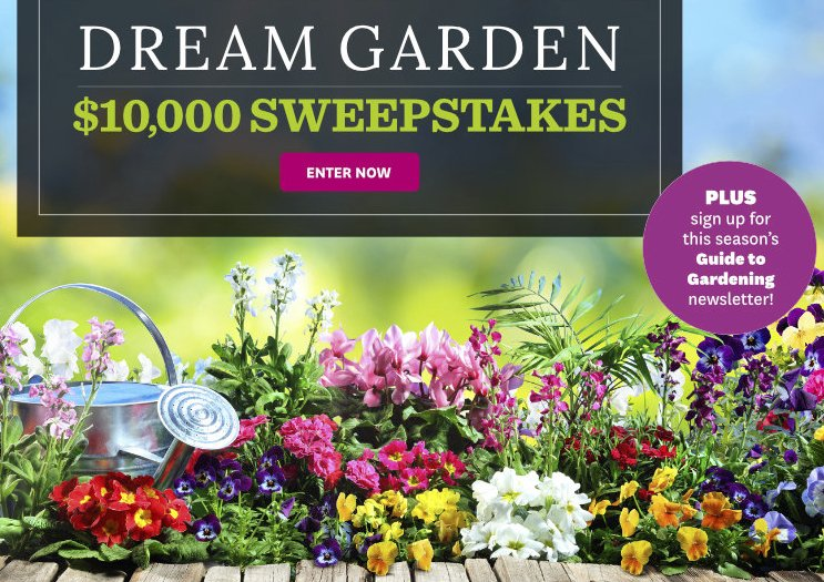 Better Homes And Gardens Dream Garden Sweepstakes