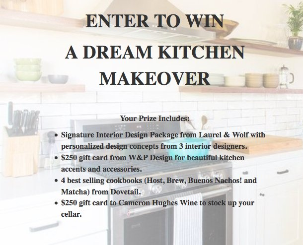 Dream Kitchen Makeover Sweepstakes   Word Of Mouth
