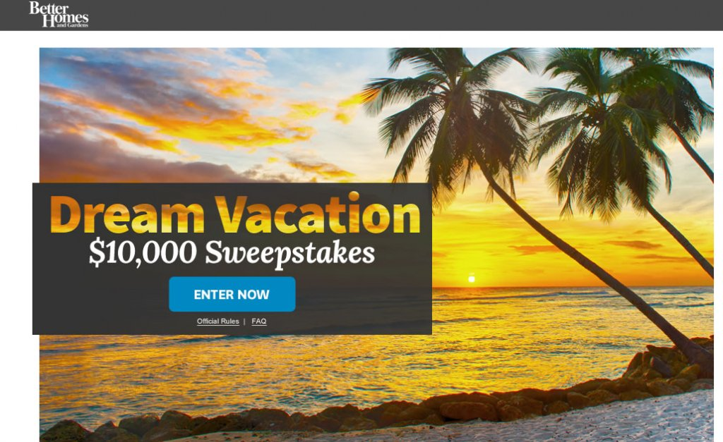 Dream Vacation 10 000 Sweepstakes