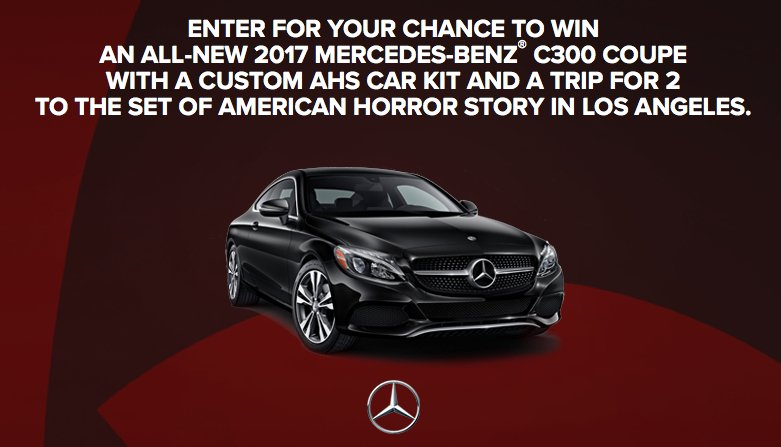 Enter to win a 47 000 2017 mercedes benz c300 and la trip for Win a mercedes benz