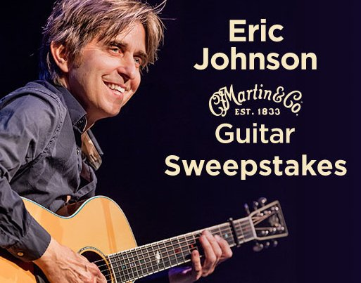 musicians friend sweepstakes musician s friend eric johnson martin guitar sweepstakes 3652