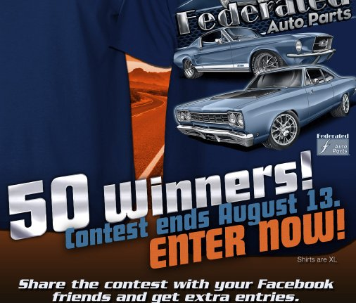 contests sweepstakes and coupons are all forms of federated auto parts t shirt tuesday giveaway 1353