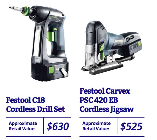 This Old House Festool Power Tool Sweepstakes