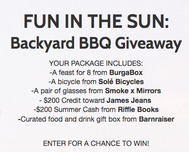 Win a BurgaBox prize pack worth $1,409.00. Submit your ...
