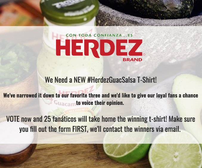 Herdezguacsalsa t shirt giveaway for New home giveaway