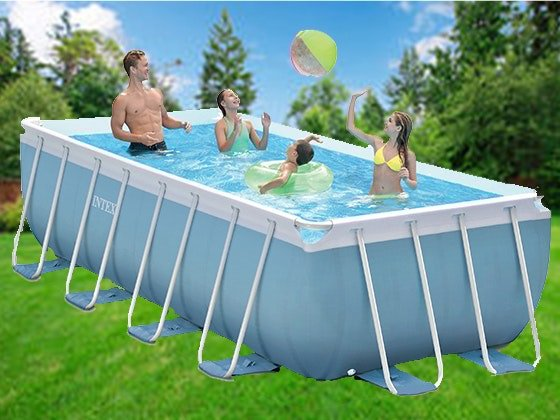 Sweepon Intex Prism Frame Pool And Salt Water System
