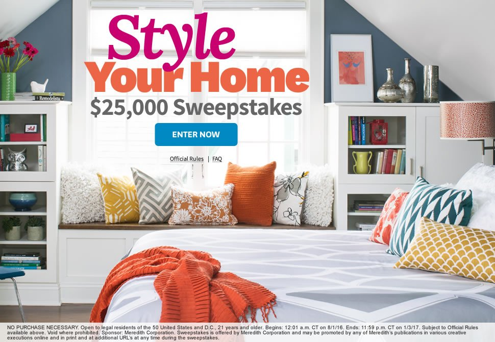 Better home and garden sweepstakes