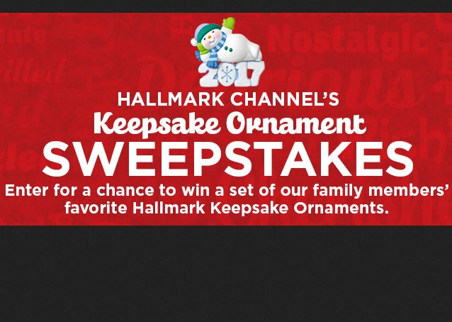 Crown media hallmark channel keepsake ornament giveaway for New home giveaway