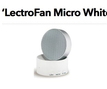 Woman S Day Lectrofan Micro White Noise Machine Giveaway