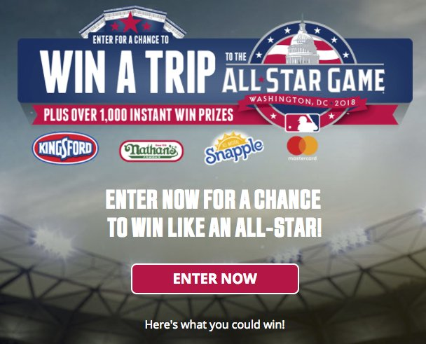 helloworld sweepstakes helloworld mlb all star week instant win sweeps 4819