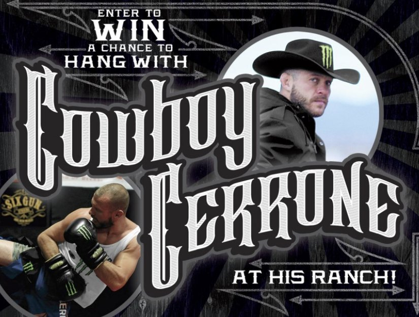 Monster HYDRO Cowboy Cerrone's Fitness Retreat Experience Sweepstakes
