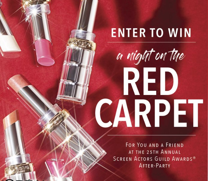 Night On The Red Carpet With L Or 233 Al Paris Sweepstakes