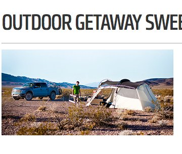 Popular Mechanics Sweepstakes >> Popular Mechanics - Outdoor Getaway Sweepstakes
