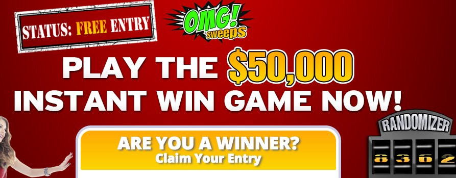 Mature play game sweepstakes