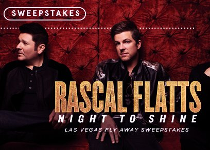 hostess rascal flatts sweepstakes cmt rascal flatts night to shine las vegas flyaway 1782