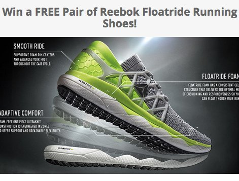 Reebok Floatride Running Shoes Giveaway - TheRunExperience