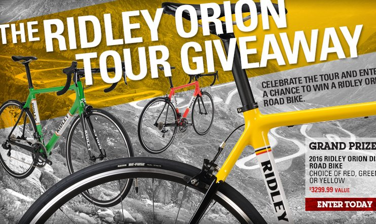 Performance Bicycle - Win a Ridley Orion Di2 Road Bike - 2016