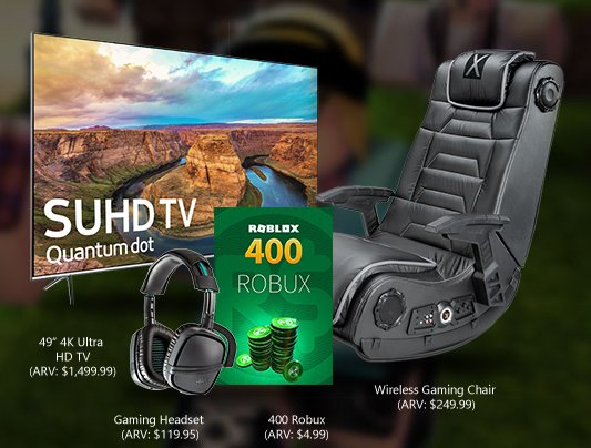 400 Robux Image Xbox Roblox And More Rewards Sweepstakes