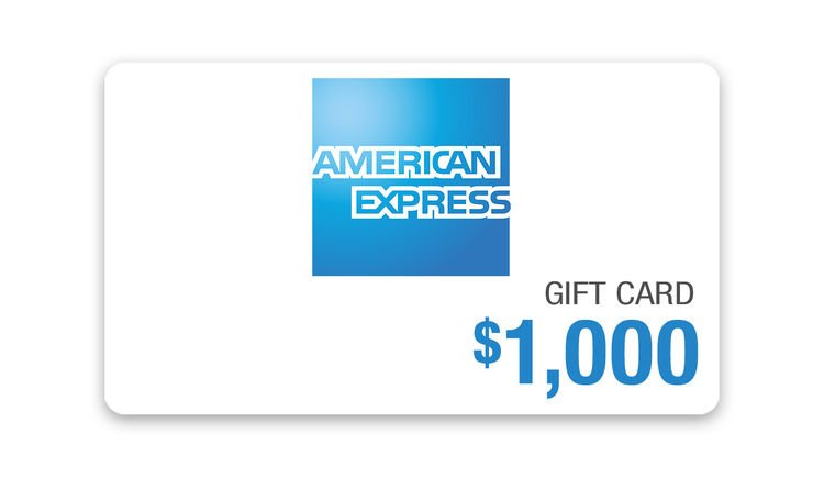 Score this $1,000 American Express Gift Card!
