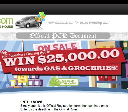Publishers Clearing House - The PCH com $25,000 Gas