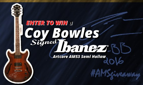 American Musical Supply - Try the Coy Bowles $700 Giveaway!