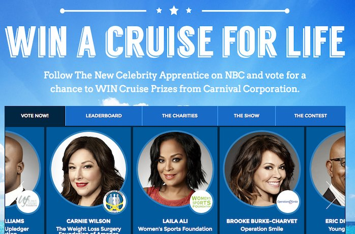 Try the Celebrity Apprentice Cruise Challenge - Sweepstakes