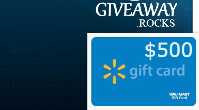 Giveaway rocks walmart gift card giveaway worth 500 first prize 50000 walmart gift card negle Images