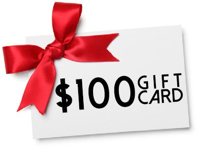 100 gift certificate giveaway