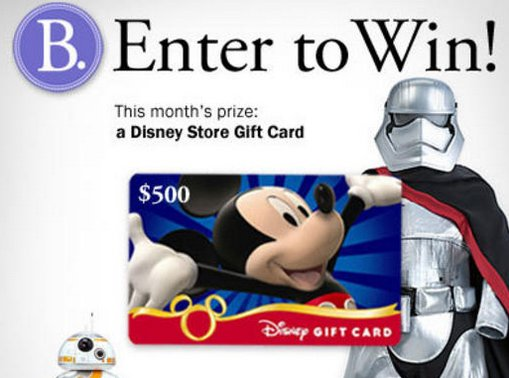 Win a $500 Disney Store Gift Card!