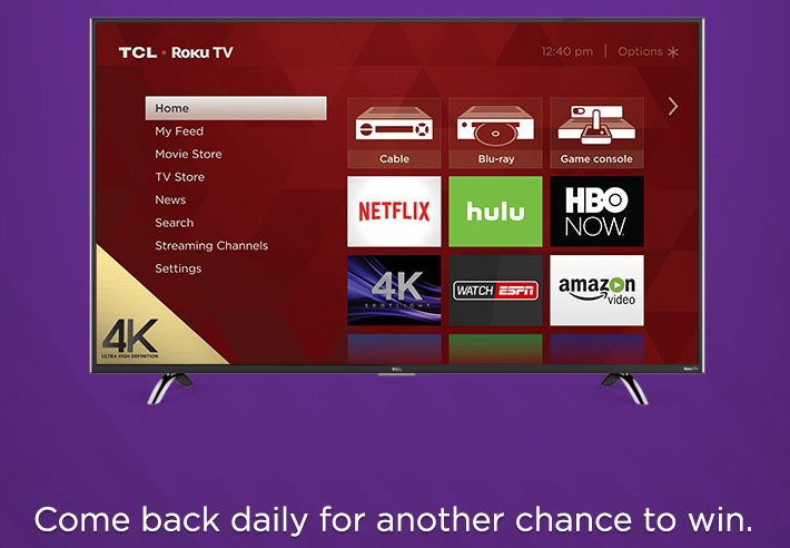 Win A 55 4k Ultra Hd Tcl Roku Tv And More
