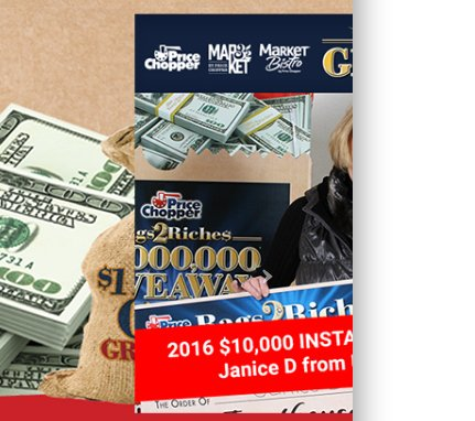 price chopper bags to riches giveaway price chopper win 6 000 000 in bags2riches game giveaway 5111
