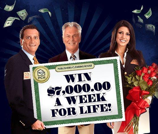 Pch Win 7 000 A Week For Life Immediate Entry Accepted