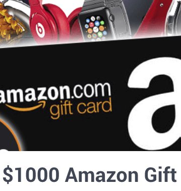 $1000 amazon gift card email